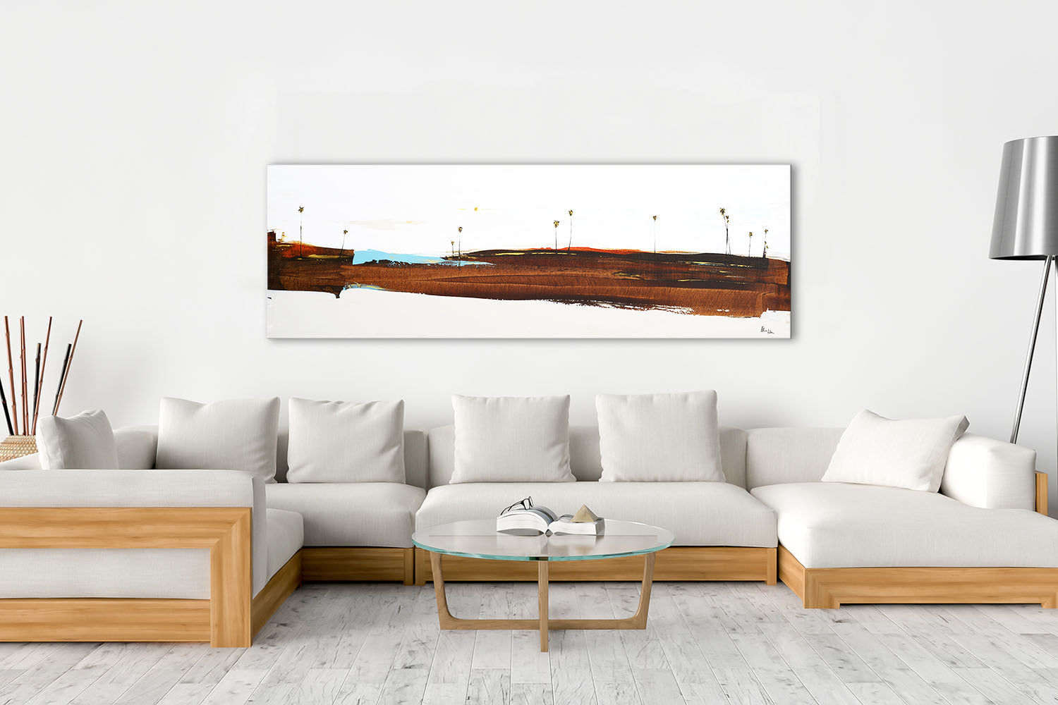 Steve Adam Art on living room wall