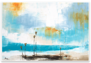 Coastal Modern Abstract - Palm Seascape Series