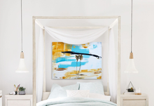 Abstract Art in bedroom