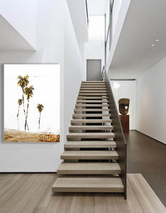 coastal modern palm tree art