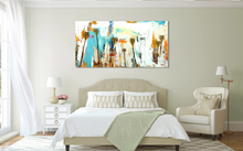 Modern Abstract Painting above Bed