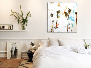 Palm Tree Painting Above Bed
