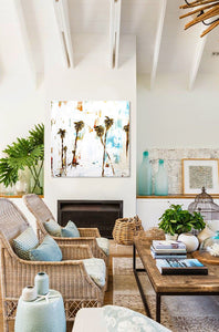 Coastal Palm Trees in a Modern Living Room