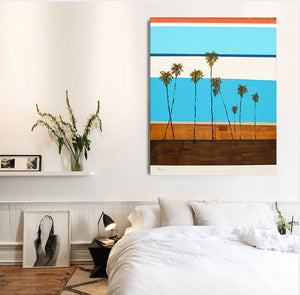 Abstract Coastal Modern Art in room