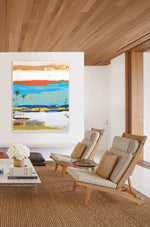 Load image into Gallery viewer, Abstract Art in Modern Living Room