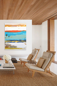 Abstract Art in Modern Living Room