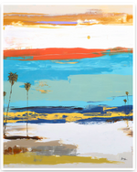 Load image into Gallery viewer, Bright Coastal Abstract Art