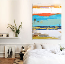 Interior Modern Design with Abstract Art on wall