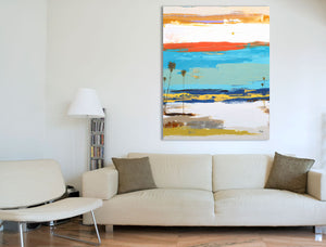 Abstract Art in Modern Interior