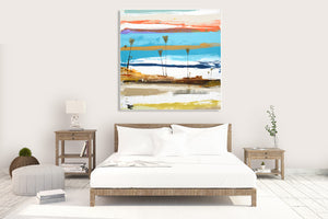 Fine Art Reproduction Print in Bedroom