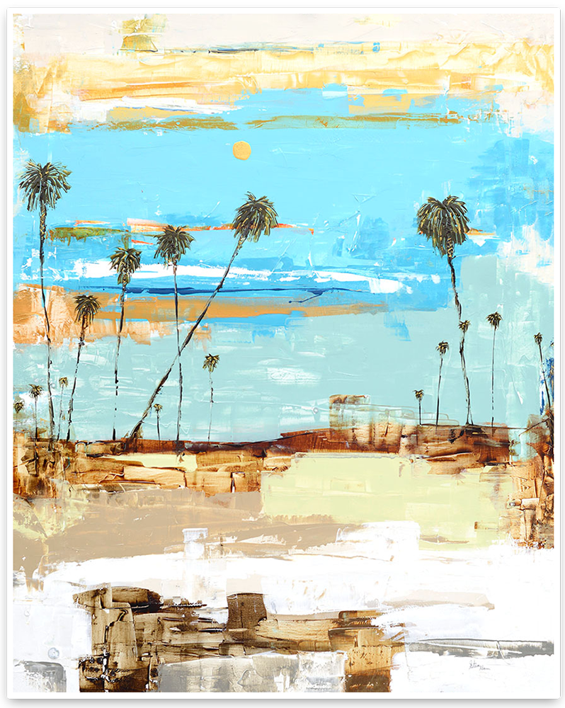 Palm Trees Beckon - Laguna Beach Artist