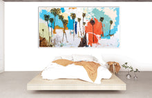 Abstract Palm Trees Bedroom