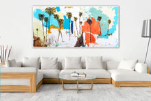Coastal Abstract Painting in Living Room