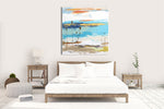 Load image into Gallery viewer, Coastal Modern Art in Bedroom