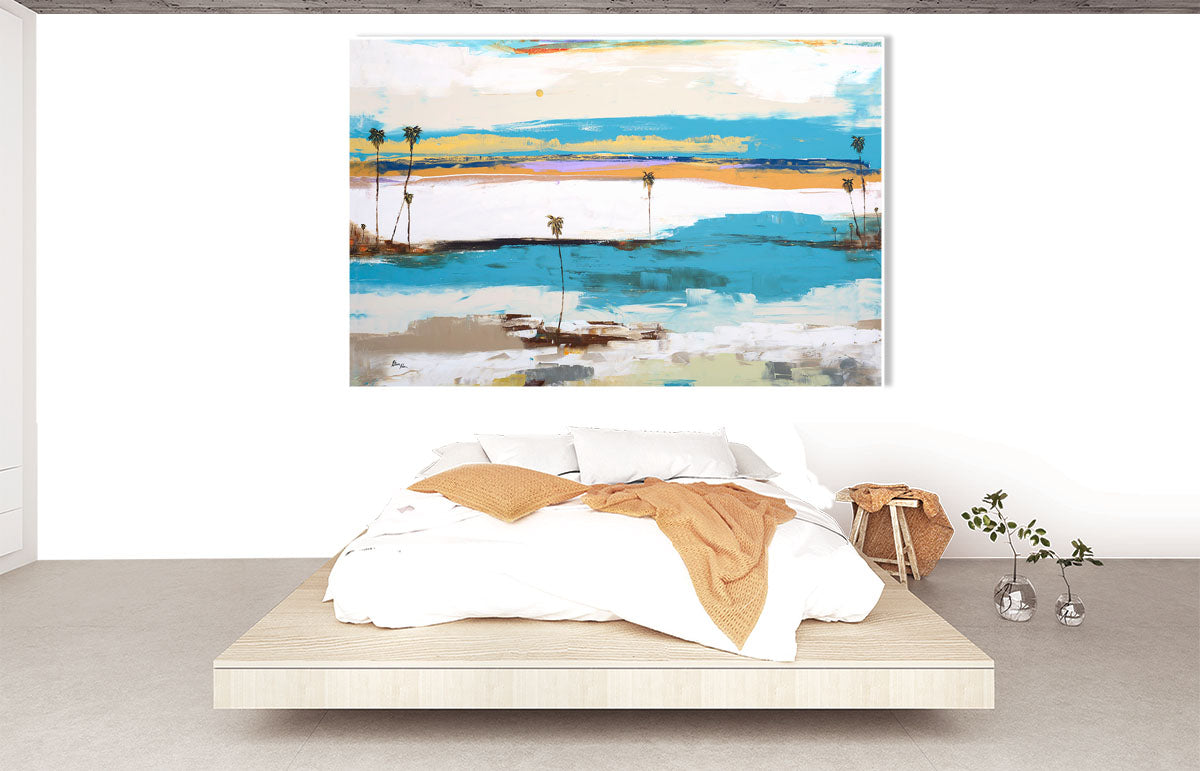 The Lagoon - Seascape Series over bed