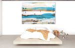 Load image into Gallery viewer, The Lagoon - Seascape Series over bed