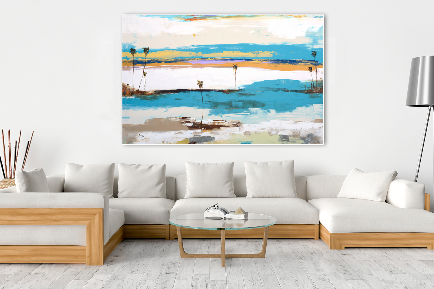 Seascape Series - Steve Adam Original over couch
