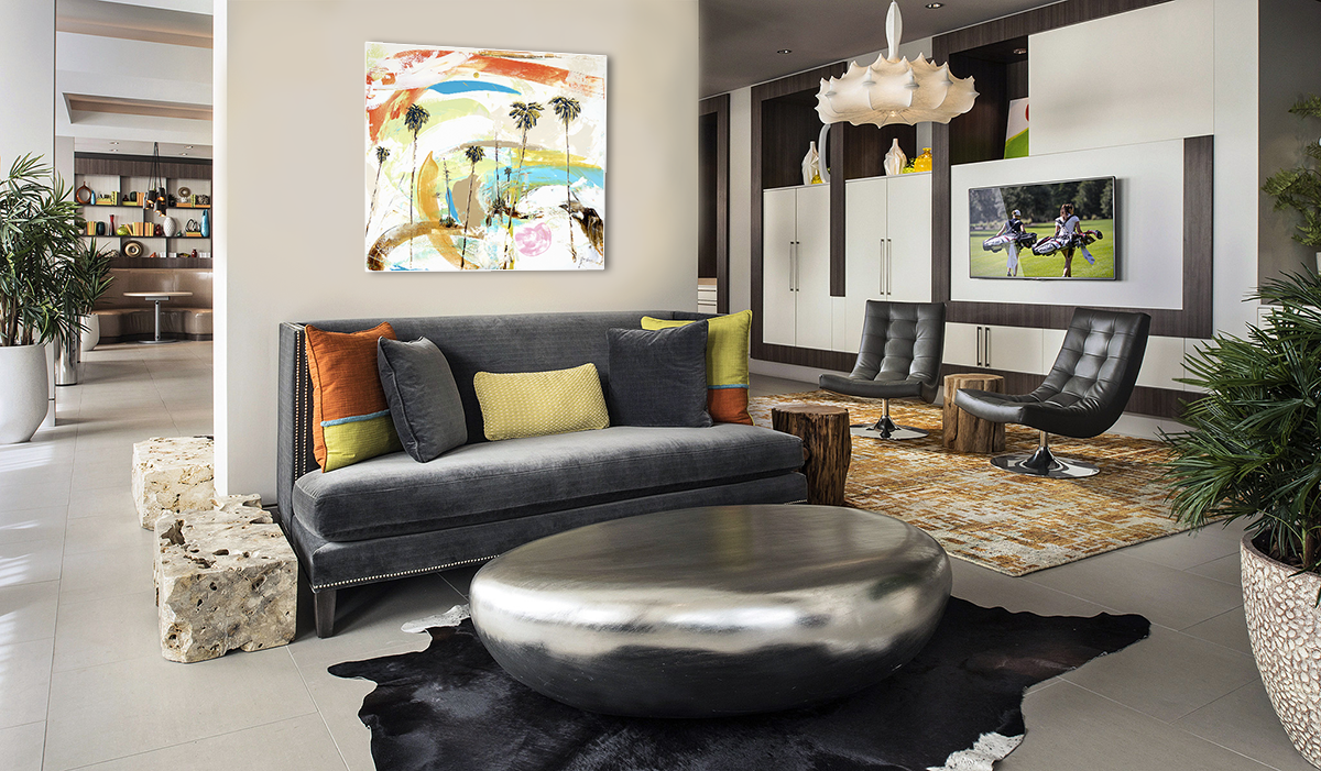 A Joyful Steve Adam Original in Modern Living Room