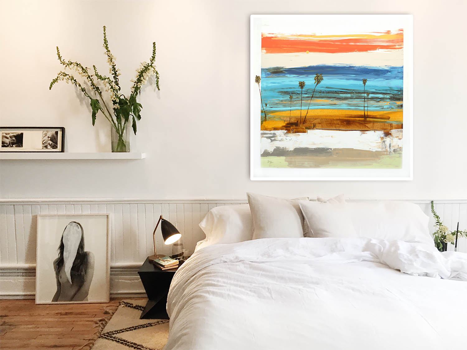 Steve Adam Coastal Modern Abstract Art in Bedroom