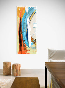 Steve Adam Coastal Abstract Art in Dining Room