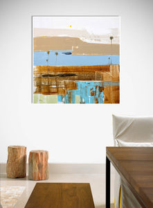 Coastal Modern Abstract in Dining Room