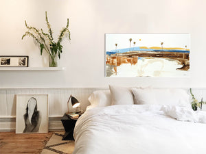 Coastal Modern Art in Bedroom