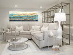 Load image into Gallery viewer, Horizontal Abstract Art - Contemporary Living Room