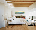 Load image into Gallery viewer, Modern Bedroom with Exposed beams and Steve Adam Original on wall