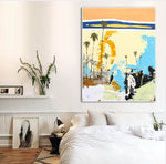Load image into Gallery viewer, Abstract Art on Bedroom Wall