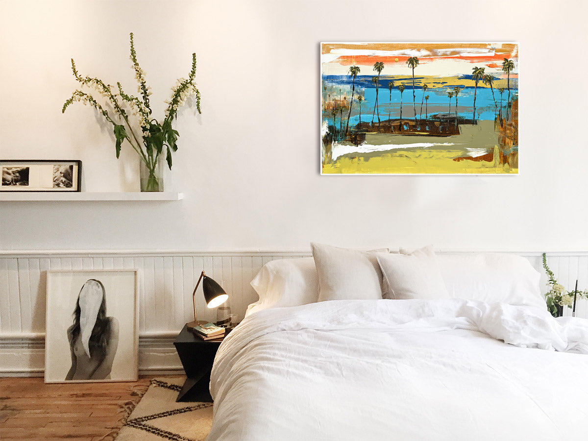 Rich Colors make up this Coastal Modern Abstract