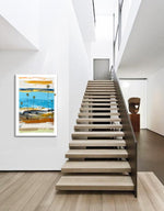 Load image into Gallery viewer, Abstract Art Piece in Modern Hallway