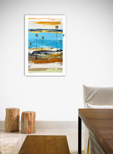 Coastal Modern Abstract on Wall