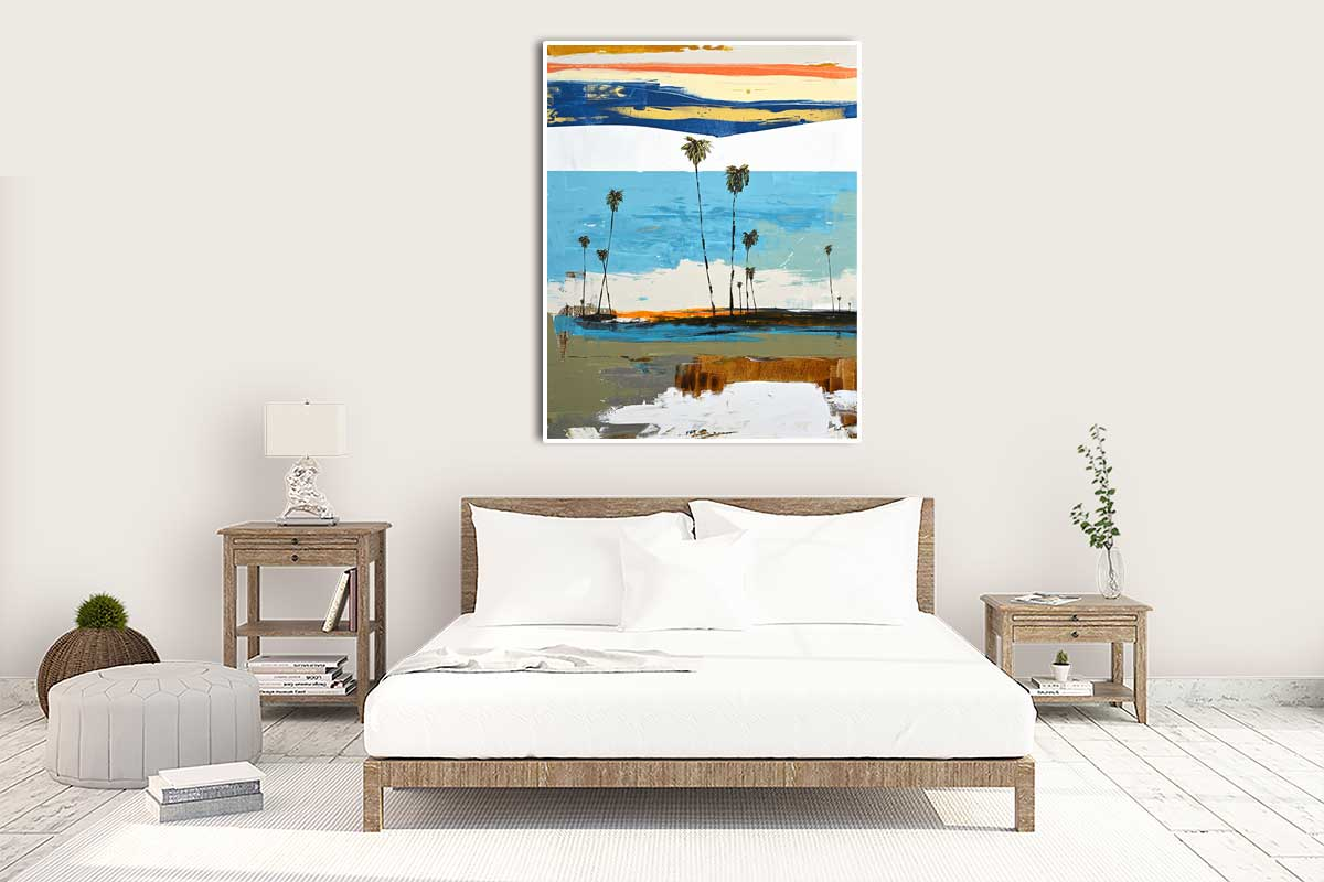 Charismatic Abstract Painting in Bedroom