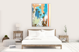 Bright Abstract in Modern White Bedroom