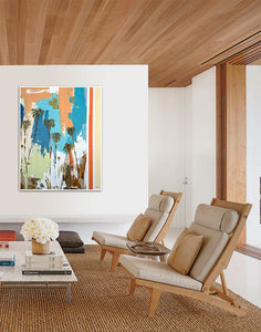 Contemporary Living Room and Art by Steve Adam