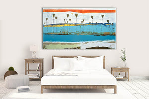 Large Modern Abstract over Bed