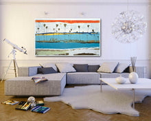 Modern Abstract in Large Living Room