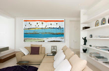 Large, Coastal Modern Abstract Painting