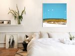 Load image into Gallery viewer, Blue Abstract Art in Modern Bedroom