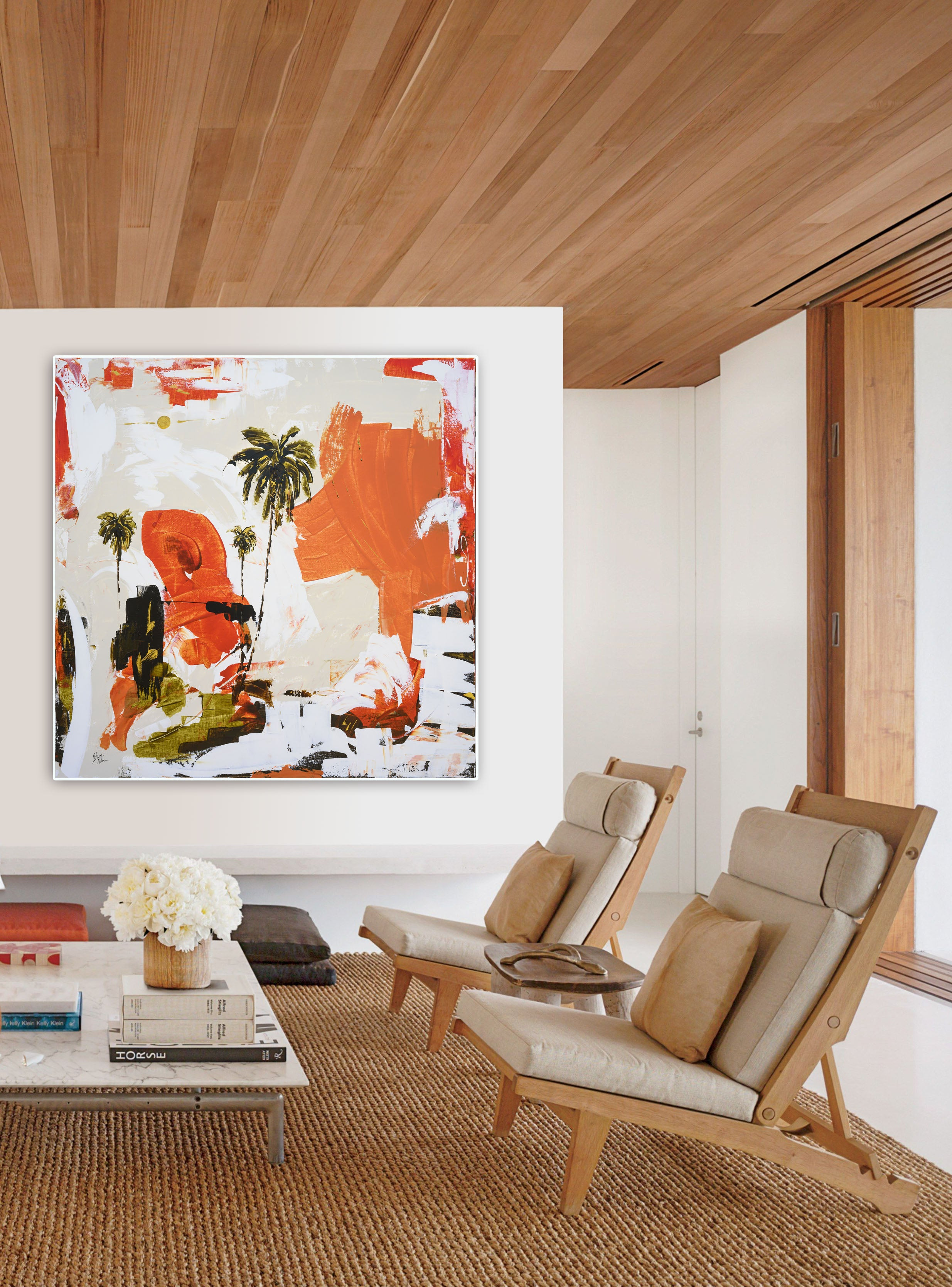 Vibrant Abstract Art in Modern Interior