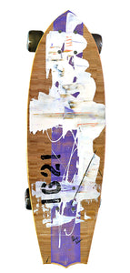 "29"" hand painted skateboard"