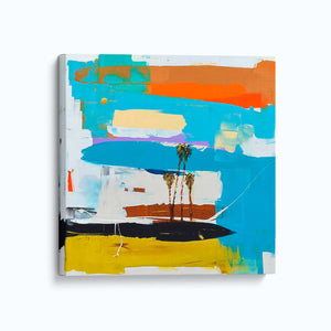 Bright and intense color - Coastal Modern Abstract art