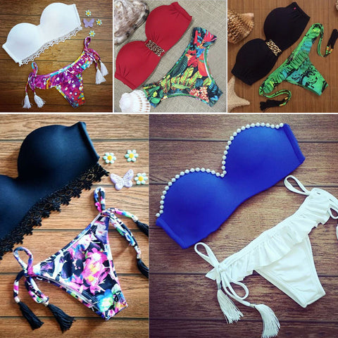 2017 Women Summer Brazilian Low Waist Bikini Set Swimwear Swimsuit Sexy Bathing Suit B2Cshop