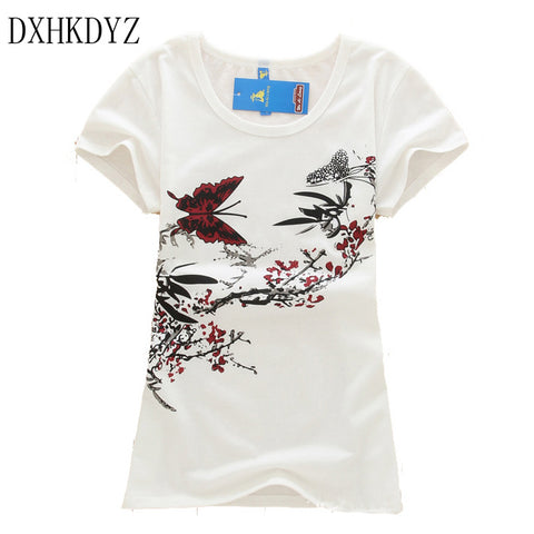 2017 New t shirt women High quality loose tops short sleeve tees Women short-sleeve female T-shirt print t shirt for women