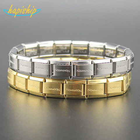 Hapiship 2017 New Fashion Man/Women's Jewelry Gold/Silver Letter Stainless Steel Wish Bracelet Bangle Friend Birthday Gift G001