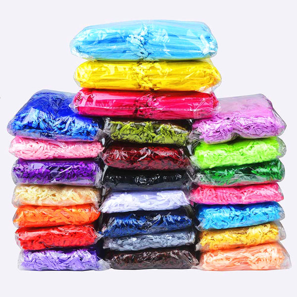100pcs /bag Selection 24 Colors Jewelry Bag 7x9cm Organza bag Jewelry Packaging Display & Jewelry Pouches