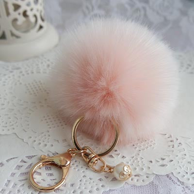New Fashion Chaveiro Keychain Fur Pom Pom Key Chain Faux Rabbit Hair Bulb Bag Car Ornaments Fur Ball Pendant Best Gifts EH-408