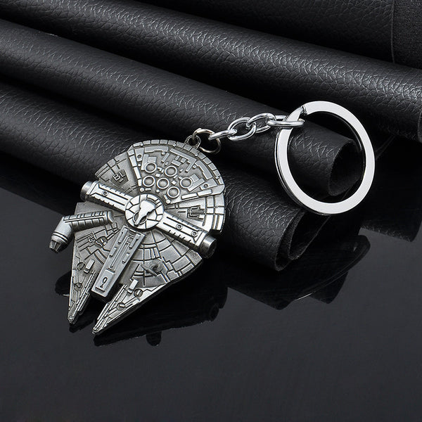 New 2015 Movie Star Wars Spaceship Logo Metal Pendant Key Chain keyring for fans Keychain men Gift Free shipping