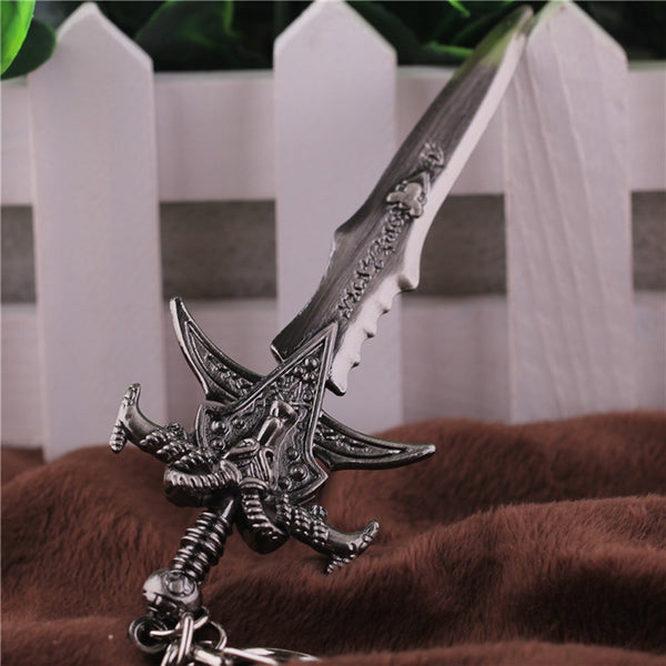 Free Shipping Warcraft Sword Frostmourne Key Chain WOW World of Warcraft Llavero Chaveiro Keyring Key Holder Keychain
