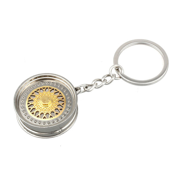 Key ring 3D Miniature BBS Wheel Rim Model Keychain  Popular Creative Car Auto Metal Mini Wheel Rim Tyre Key Chain EE
